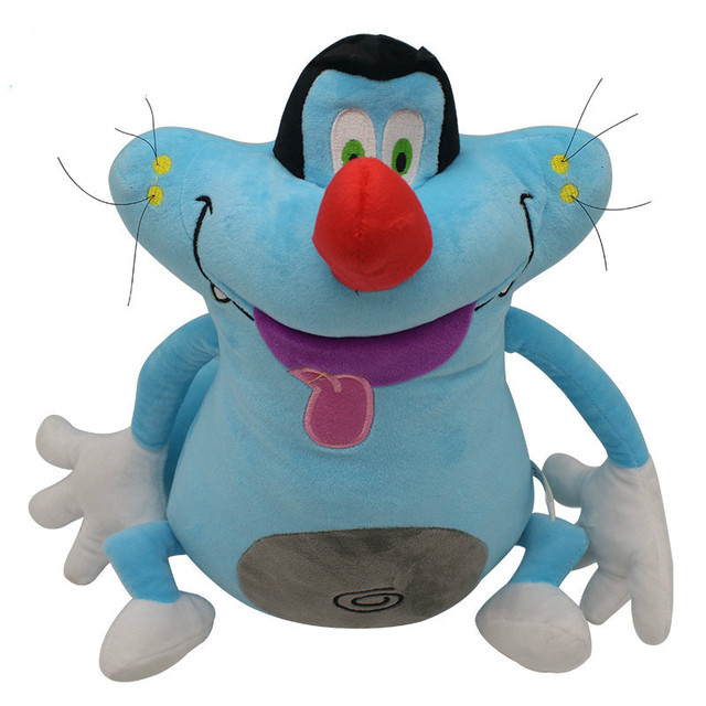 40cm French Cartoon Oggy And Cockroaches Plush Toy Fat Cat Oggy Stuffed Animal Doll Plush Toy Best Gift For Kids Birthday Party