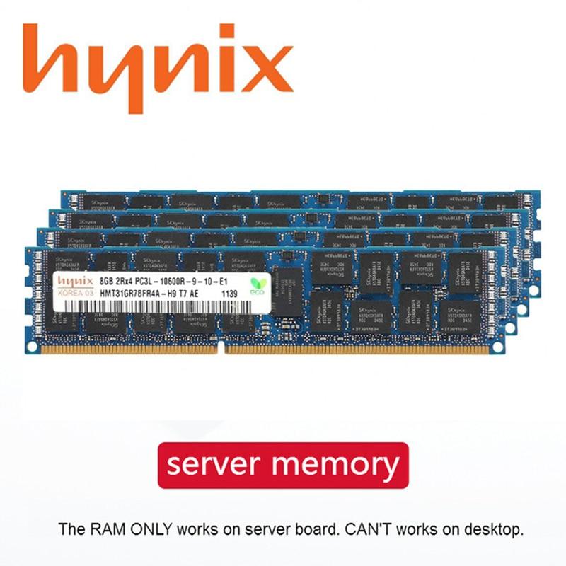 Серверная память Hynix DDR3 PC3, 1 ГБ, 2 ГБ, 4 ГБ, 8 ГБ, 16 ГБ, 32 ГБ, 1333 МГц, 1600 МГц, 1866 МГц, ECC REG, подходит для двухформного сервера