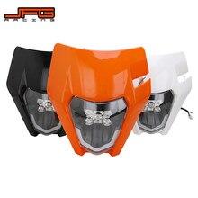 Motocykl nowy LED reflektor latarka czołowa dla KTM EXC EXCF SX SXF XC XCF XCW XCFW 125 150 250 300 350 450 530
