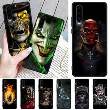 Wumeiyuan Ruthless Skeleton Soft Silicone Black Phone Case For Huawei P8 lite 2017 P9 P10 20Pro Lite Pro P30lite P Smart 2019 ruthless