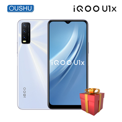 Vivo IQOO U1x 4G мобильный телефон 6 Гб 64 Гб 5000 мАч 18 Вт DashCharge 13MP тройной задней Камера 6,51 ''большой Экран Android 10,0 мобильный телефон