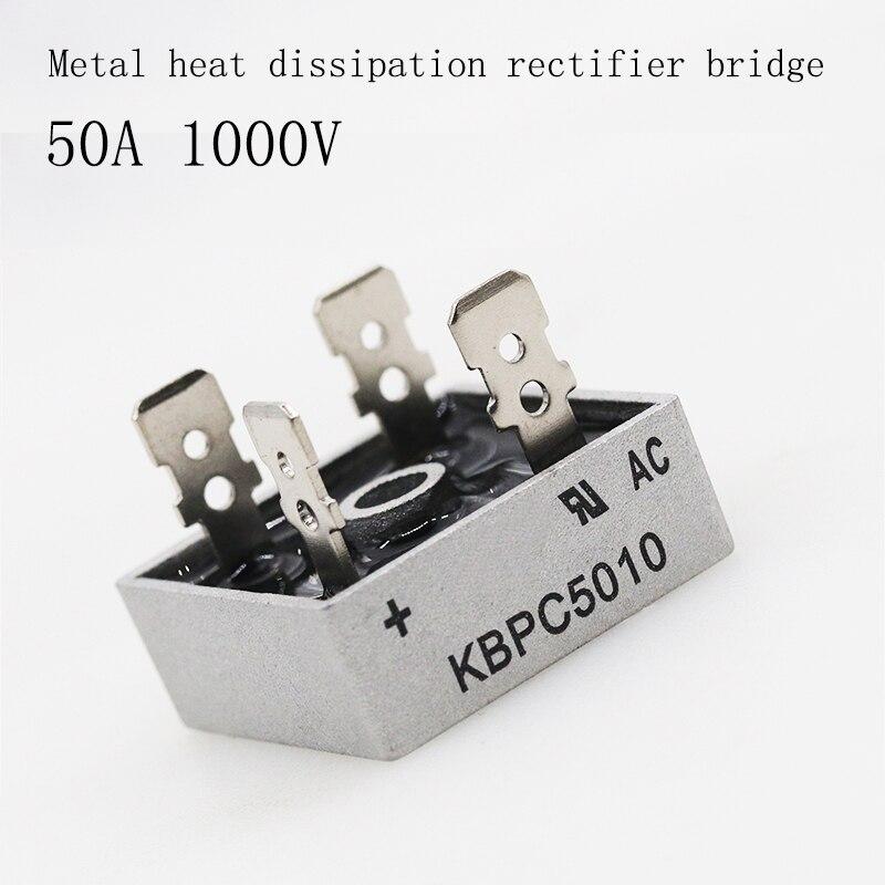 2PCS/LOT Bridge Rectifier Diode KBPC5010 50A 1000V Single Phase Bridge Rectifier Original Integrated Circuit