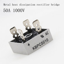 2PCS/LOT Bridge Rectifier Diode KBPC5010 50A 1000V Single Phase Bridge Rectifier Original Integrated Circuit