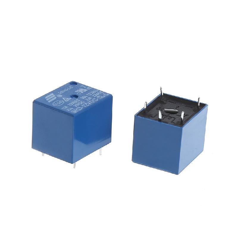 5Pcs Durable DC 12V Coil 10A 5 Pins Power Relay PCB Type SPDT For SRA-12VDC-CL Drop ShipDrop Ship