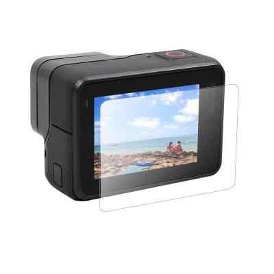 Filme temperado para gopro hero 7 6 5 acessórios protetor de tela temperado para go pro herói 7 6 5 câmera ação preta