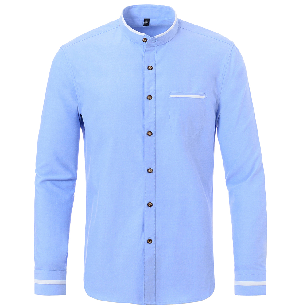 5XL Casual Men's Oxford Cotton Solid Long Sleeve Camisa Regular Fit Top Quality No Fade No Shrink Turn Down Collar Shirts