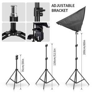 Image 4 - Photo Studioสี่เหลี่ยมผืนผ้าการถ่ายภาพกล่อง 8 LED 20Wแสงการถ่ายภาพชุด 2 2 กล่องนุ่มพกพากระเป๋าสำหรับกล้อง