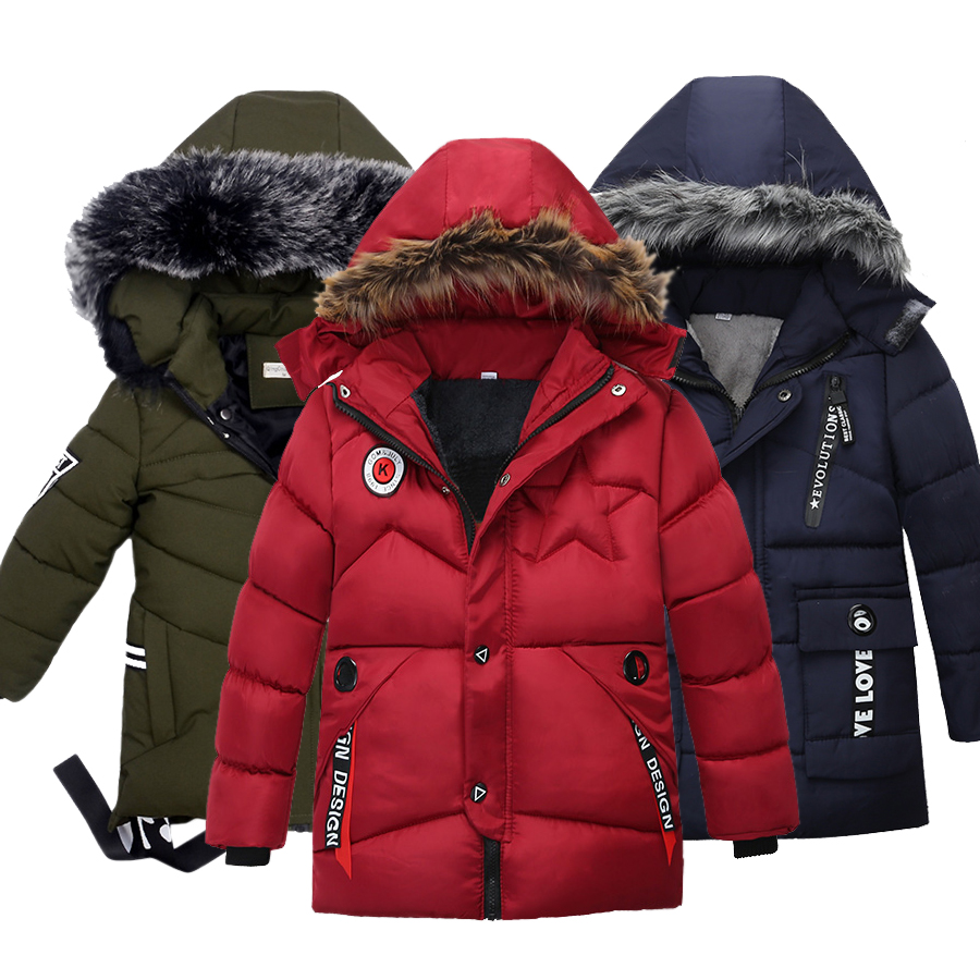Boys Winter Jackets Coats Garments Baby-Boy Fashion Children's Cotton