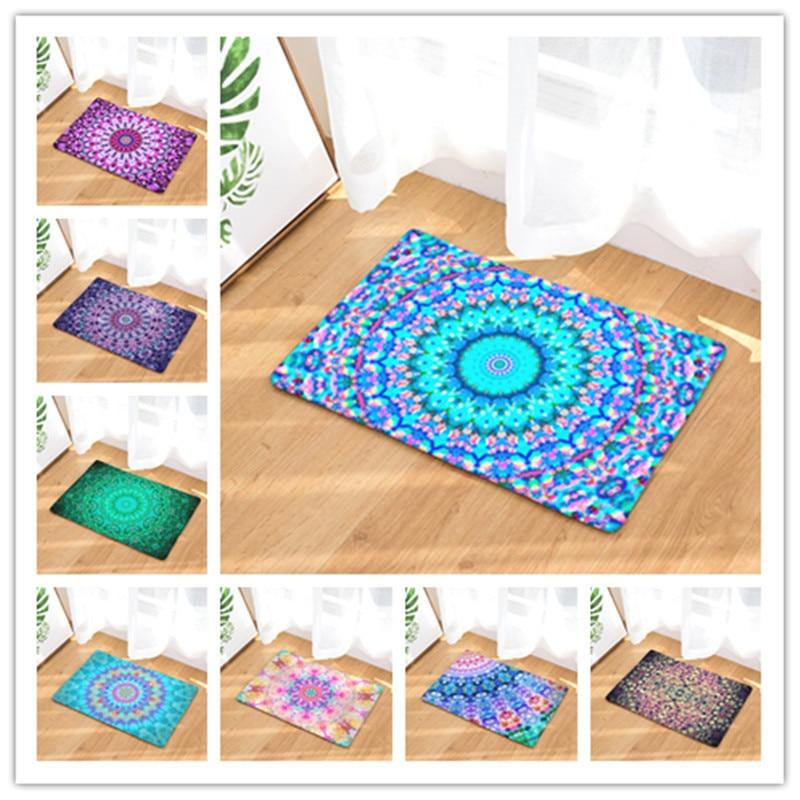 1 pc Dazzling home bathroom mat absorbent carpet door flannel printing foot pad Bathroom set rug