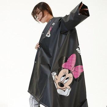 Disney Adult Minnie Women Raincoat EVA Material Girls Women raincoat Rainproof Poncho Rain gear Men Rainsuit Travel Walk
