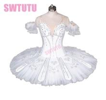 high quality white swan lake ballet tutu,professional classical tutu for girls,tutu dance,adult BT9037
