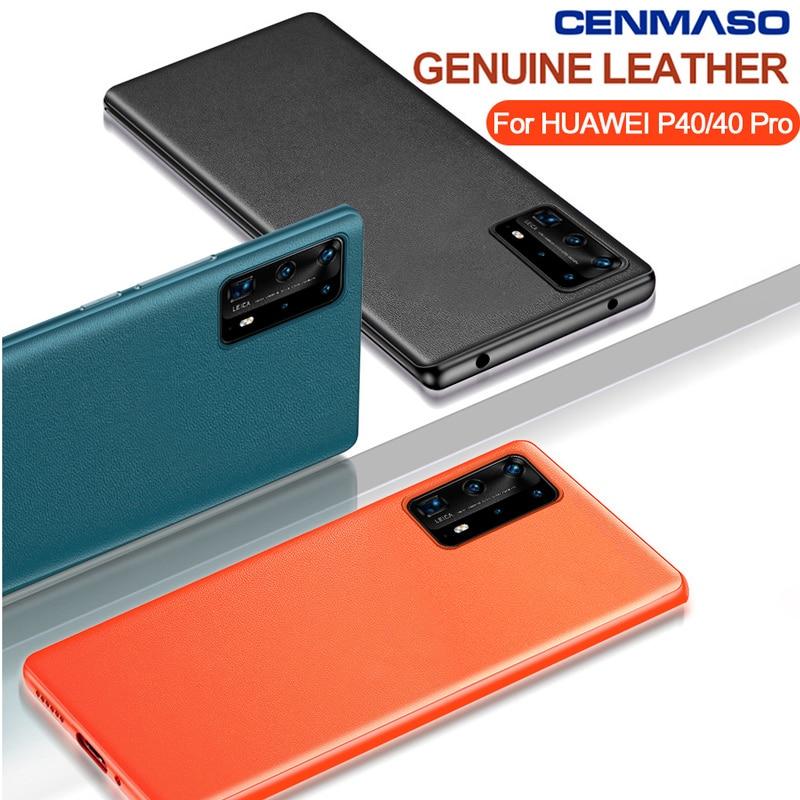 CENMASO оригинальная задняя крышка из натуральной кожи с силиконовым краем для Huawei P40 P30 Mate 30 20 Pro Nova 6, противоударный чехол для телефона|Специальные чехлы|   | АлиЭкспресс