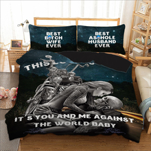 Adult pattern printed single double queen sizes bed linens set with pillowcases bedding skull Sexy woman duvet cover