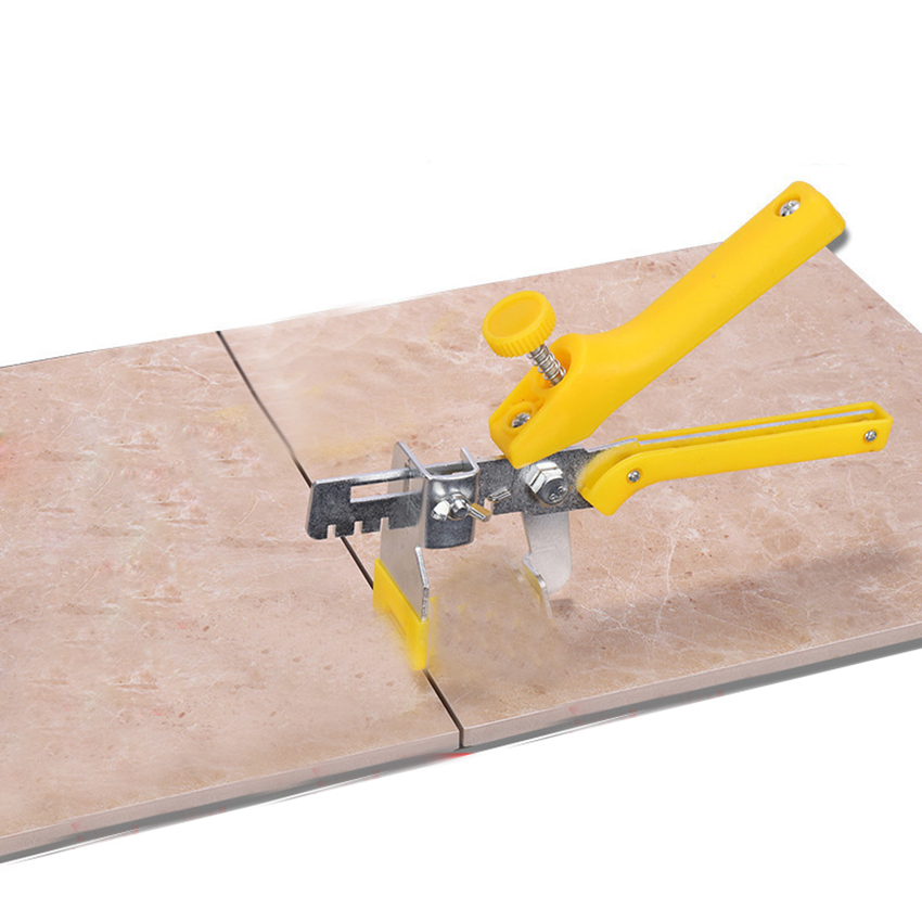Durable Metal Tiling Locator Gun Floor Ceramic Tile Leveling System Yellow Plier Tile Installation Tools Spacer Leveler System
