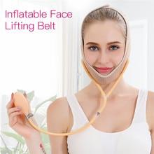 Air Press Lift Up Belt Face-Lift Mask Massager V-Line Cheek Chin Slimming Belt Face Shaper Bandage Adjustable Shaper Firming