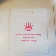 500 sztuk/partia niestandardowe Logo drukowane gorąca sprzedaż recyklingu urodziny włókniny torby do pakowania prezentów tkaniny Tote Logo torby na wesele