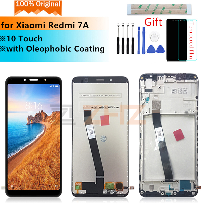 Original For Xiaomi Redmi 7A Display LCD Touch Screen Digitizer Assembly 10 Touch Screen Replacement With Frame Repair Parts