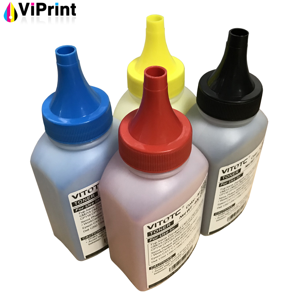 4 Japan EA Toner For Fuji Xerox DocuPrint CM115w CM215f CM225fw CP115 CP225w Printer Cartridge Refill Color Bottle Toner Powder