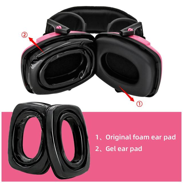 하니웰 임팩트 스포츠 귀마개 전술 헤드셋 전자 슈팅 방한용 귀 가리개 용 젤 이어 패드