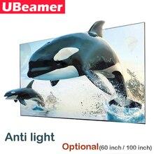 Ubeamer 16:9抗光反射生地画面オプション (60/100インチ) ホームシアター用サポートdlpプロジェクトビデオ映画