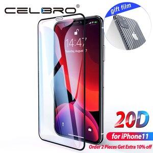 Image 1 - מסך מגן עבור iPhone 11 פרו מקס זכוכית מזג סרט מלא כיסוי קריסטל טלפון זכוכית עבור iPhone 11 Pro מקסימום X XS Max Xr סרט