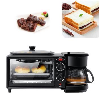 Wielofunkcyjne urządzenie do robienia śniadania piekarnik boczek tosty piekarnik ekspres do kawy 3 w 1 ekspres maszyna urządzenie śniadaniowe piekarnik jajko sadzone tanie i dobre opinie IRISLEE 600w 220v Pureeing Łopatka HL-9L STAINLESS STEEL breakfast machine 45 * 18 * 19cm 450W about 4 6kg 100~230degC
