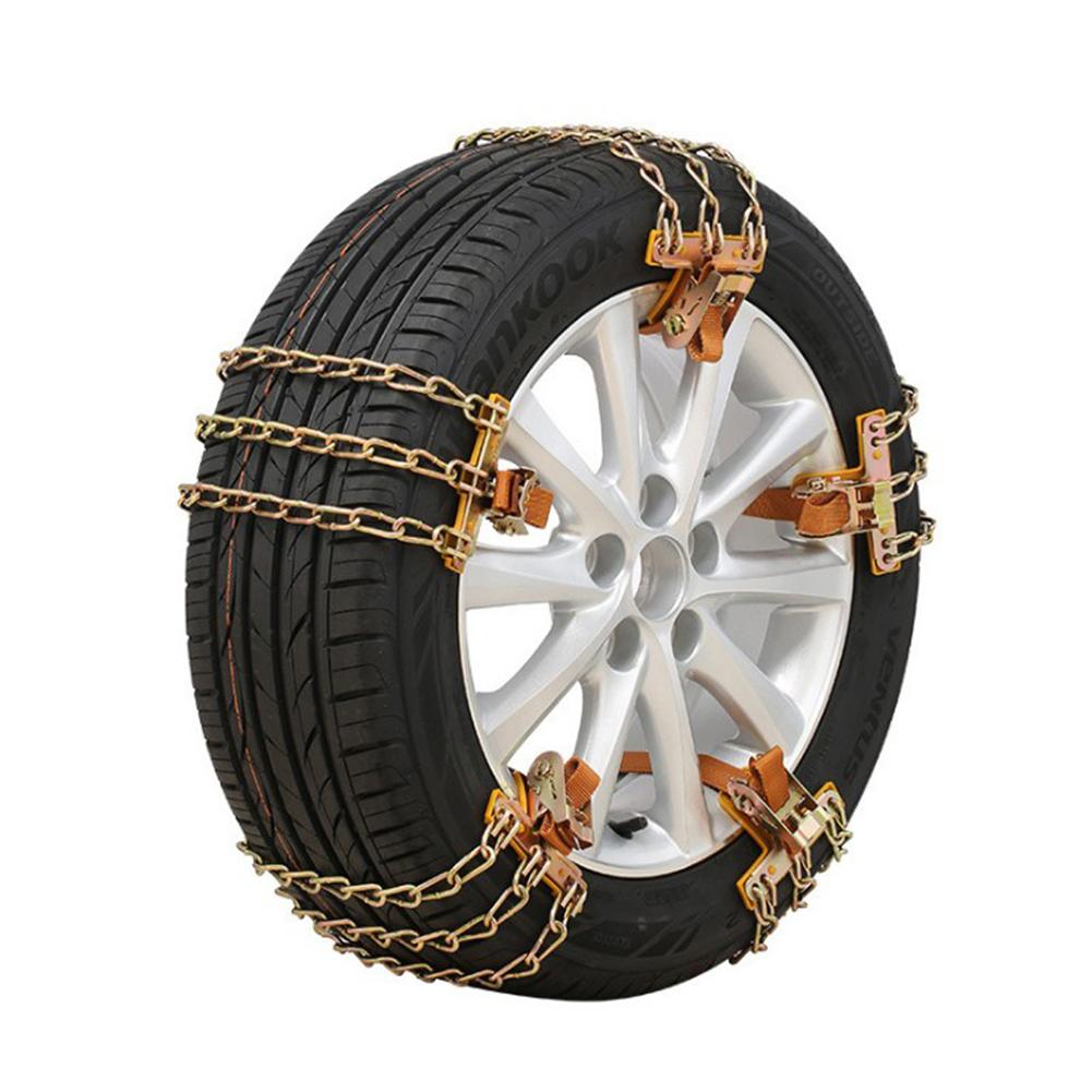 SUV Car Tyre Winter Roadway Safety Tire Snow Emergency Chain Adjustable Anti-skid Safety Balance Double Snap Skid Wheel Chains image