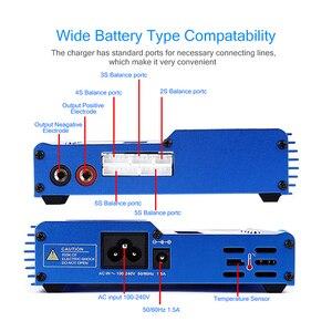 Image 5 - Kebidu imax b6 ac 80 w b6ac lipo nimh equilíbrio carregador de bateria rc digital lcd tela descarregador ue eua fonte alimentação