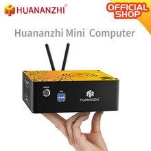 Huanazhi 1080p mini pc i3 i5 intel core cpu 4gb 8gb ram 128 256 gb rom windows 10 desktop computador hdmi-compatível vga