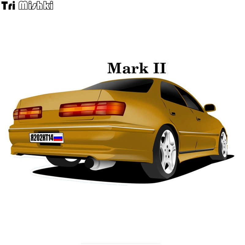 Tri Mishki WCS361# 10.4*20cm Car Shape Colorful Car Sticker  For Toyota Mark II Mark 2 Decals Motorcycle Accessories Stickers