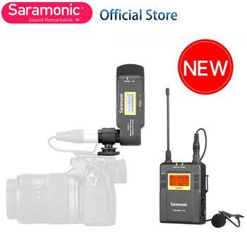 Saramonic UwMic9 TX9+RX-XLR9 Wireless Lavalier Microphone with Transmitter & XLR Battery Grip XLR Receiver for Camera Camcorder