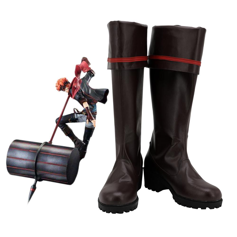 D.Gray-man Lavi Rabi Cosplay Boots Dark Brown Shoes Custom Made Any Size For Unisex