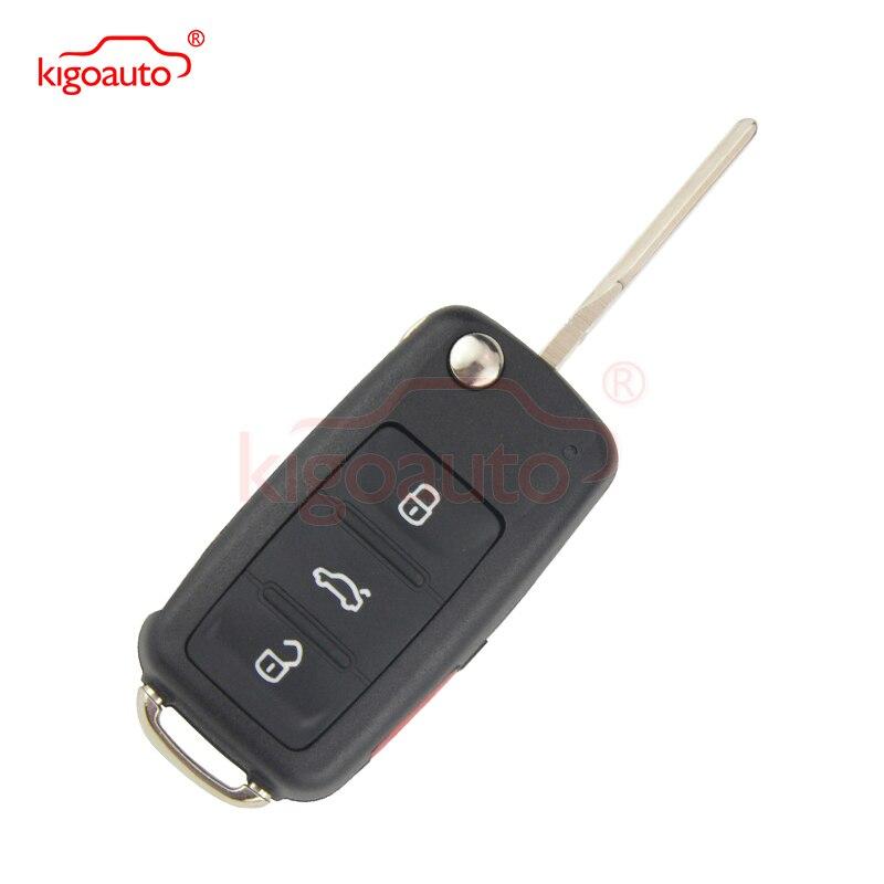 5K0837202R 315Mhz 3 pulsanti con chiave remota antipanico HU66 NBG010180T per VW Beetle Passat Jetta Tiguan 2014 kigoauto