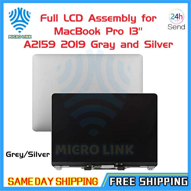 Ноутбук mlc, серебристо-серый, 13 дюймов, A2159, ЖК-экран в сборе для Macbook Retina, 13 дюймов, полный ЖК-дисплей 2019 года