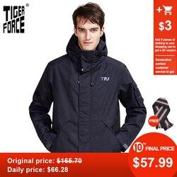 FORZA TIGRE 2020 nuovo arriva autunno della molla di sport giacca con cappuccio casual uomo giacche e cappotto della chiusura lampo Degli Uomini caldi di parka 50612
