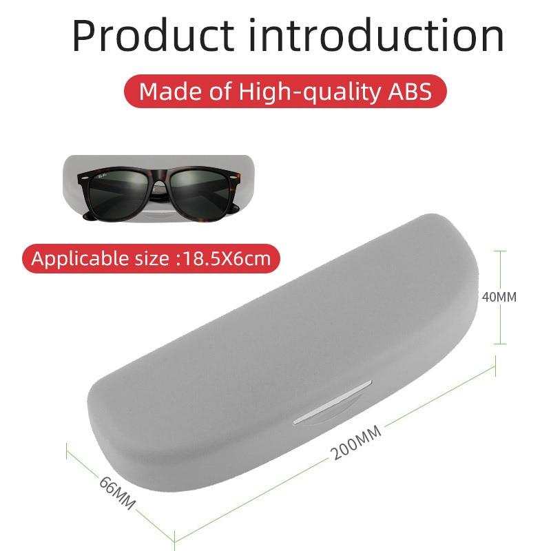 Color : Beige Porta occhiali per auto Auto degli occhiali da sole della cassa del supporto della scatola for Audi A4 B8 B9 A3 8P S3 8V A5 A6 C6 A7 Q3 Q5 Q7 Accessori Interni