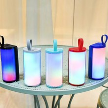 Colorful Light Bluetooth 5.0 Speaker Portable Handheld LED Outdoor Subwoofer Party Holiday Supplies