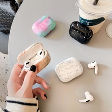 Earphone Case For Apple Airpods Pro Case Marble Cartoon Silicone Cover For Apple Air Pods Pro 3 Head