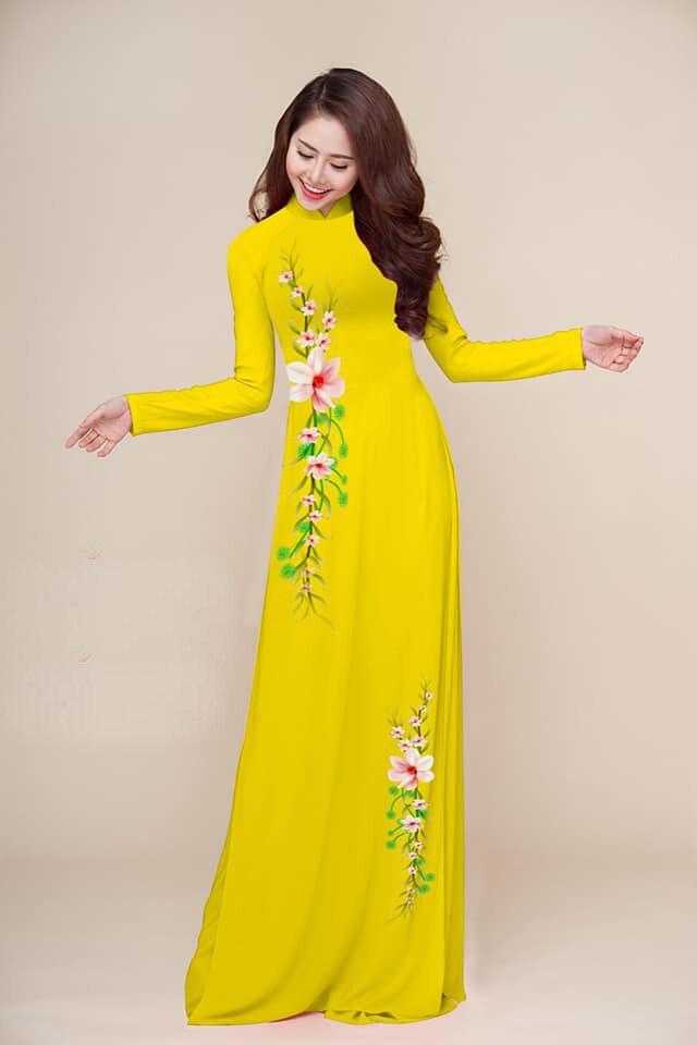 Tailored Aodai Vietnam Clothing Cheongsam Aodai Vietnam Dress Vietnamese Traditionally Dress Long Sleeves Cheongsam Dress 2 Pcs