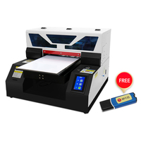 Full Automatic A4 UV Printer Flatbed Small UV Printers With RIP 9.0 For Phone Case, Bottle, Pen, Lighter, Acrylic, Wood, Glass