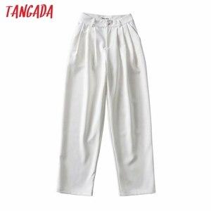 Tangada 2021 Модные женские повседневные длинные Костюмные брюки на пуговицах женские брюки 2T3