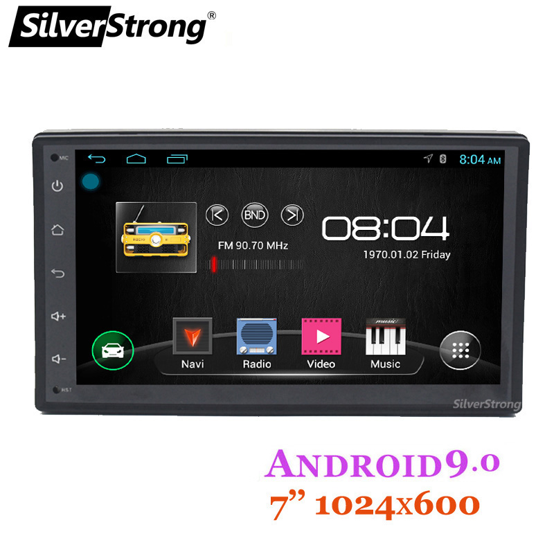 SilverStrong QuadCore 7'' 2DIN Android9.0 Car DVD LADA Granta Universal Radio RDS MirroringLink 2 DIN Stereo Full touch K7001LB image