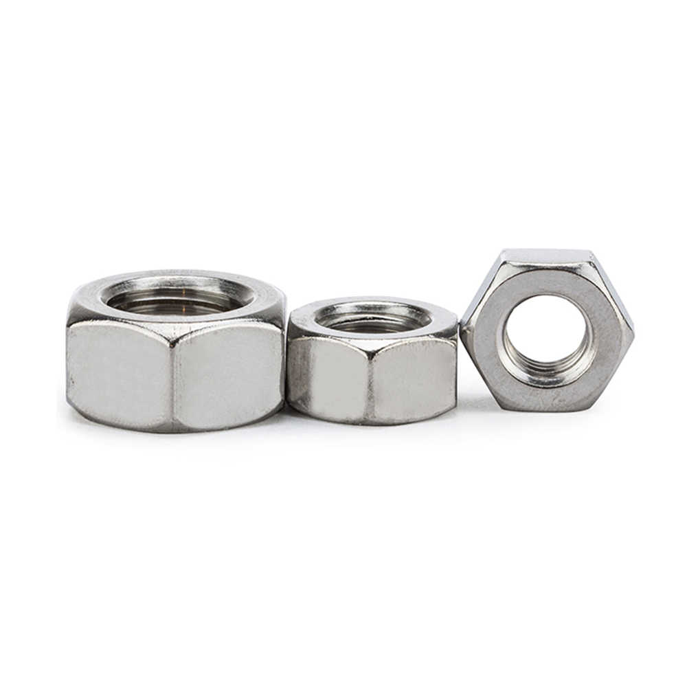 Black Hexagon Steel Ordinary Nuts for M1.4 M1.6 M2 M2.5 M3 M4 M5 M6 M8 M10 M12 M14 M16 M20 M24 M24 Bolts Size : 2pcs M18