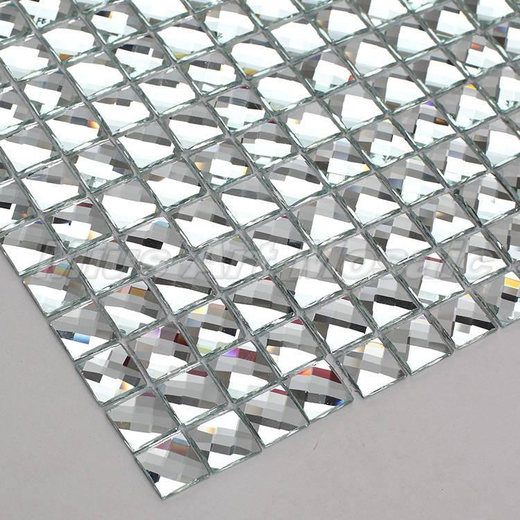 13 краев скошенное зеркало Алмазная стеклянная мозаика плитка для стен showeroom KYV дисплей шкаф Обои DIY украшения