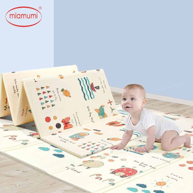 Miamumi tapis educatif tapis enfants jeux de bébé 1cm tapis mousse tapis enfant tapis de gymnastique bébé tapis de jeu activité gymnastique ramper tapis de couverture