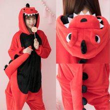 Kigurumi kombinezon dla dorosłych zwierząt jednorożec komplet piżamy ciepły miękki ścieg bielizna nocna Onepiece kombinezon zimowy Pijama Cosplay