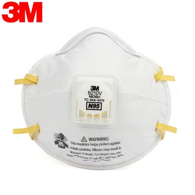 3M 8210 8210V 8210VCN KN95 Maschere di Protezione Anti PM2.5 Struttura Industriale Nebbia Ambiente KN95 N95 Maschera Con Valvola 2