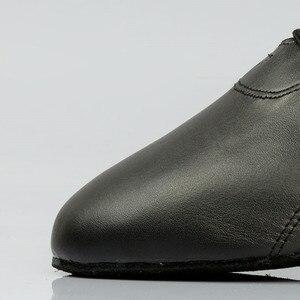 Image 5 - Venda quente dos homens sapatos de dança latina 424 divisão outsole couro macio profissional sapato dança de salão salto elástico sapato