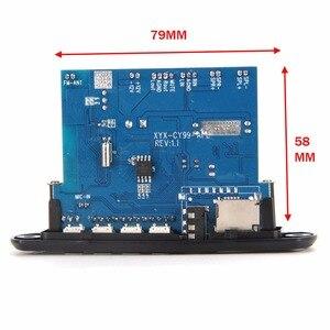 Image 3 - APP בקרת Bluetooth 4.0 MP3 פענוח לוח מודול 2*10w כוח מגבר TF כרטיס USB FM APE FLAC WAV WMA מפענח לוח אדום LED