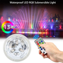 Underwater Light Outdoor Lamp New LED Magnet Suction Cup Diving Light Large 13 Lights Remote Control Timing Fish Tank Light